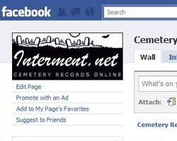 The Facebook page for Interment.net