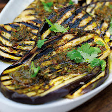 BBQ aubergines with chermoula