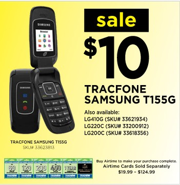 Tracfone - Weekly Phone Sale Prices