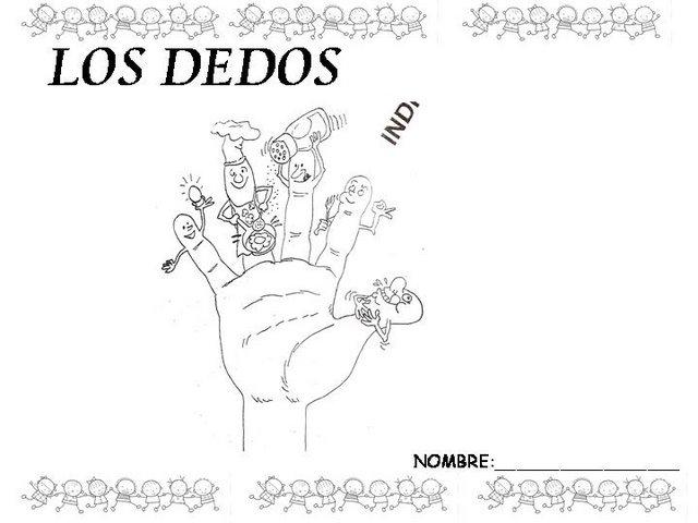 Worksheet. DIBUJO DE LOS DEDOS DE LA MANO