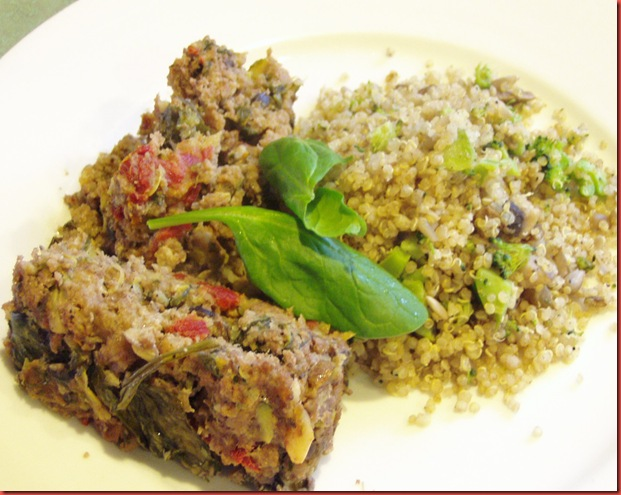 Meatloaf and quinoa 053