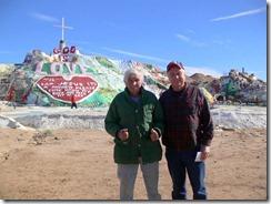 The artist, Leonard, with Gary