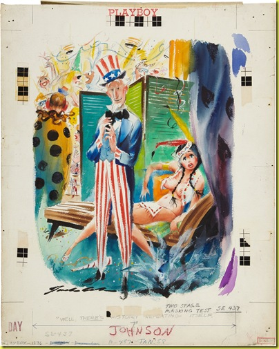 Jack Cole. Original Art. Playboy Jan 1958