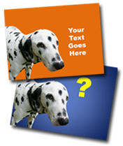 PowerPoint slide graphic of sweet funny dog dalmation