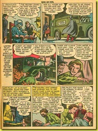 Vintage back issue rare comic page showing a hearse.