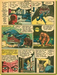 Rare vintage back issue comic book page showing a hit and run accident.
