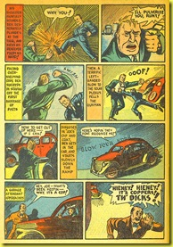 A policeman fights a crook in this vintage back issue comic book story from 1940_5