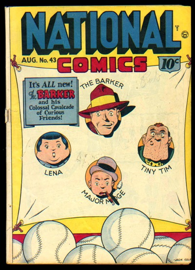 The cover of National Comics 43 is shown in this rare back issue comic book