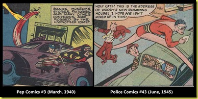 The Comet compared to Plastic Man