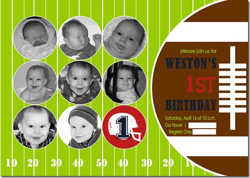 Edited Weston 1 Yr Birthday Invite