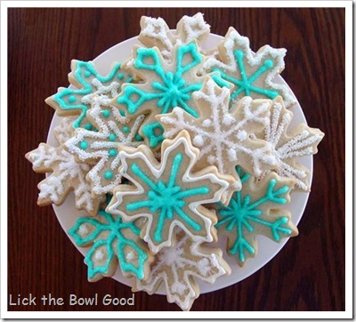 snow flake cookies