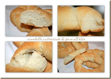 ciambelle di pane intrecciate all'olio3