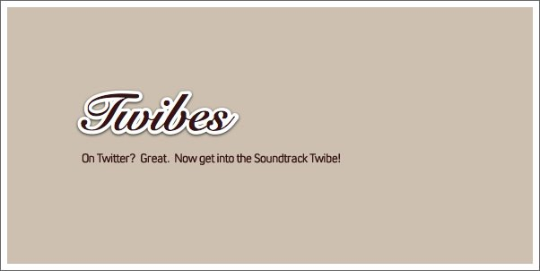 Two Twibes for Soundtrack Fans and Composers!