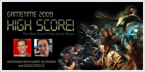 Gametime 2009 - Interview with Garry Schyman (Bioshock 2) and Diego Stocco (The Conduit)