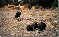 criança urubu sudão