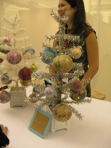 Lauren Murphy and her tree of ornaments!