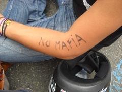 scritta sul braccio