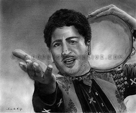 Gurdas Maan Punjabi singer pencil drawing