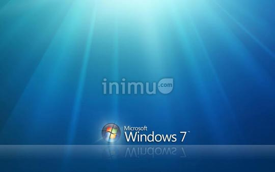Screenshot wallpaper bertema Windows 7