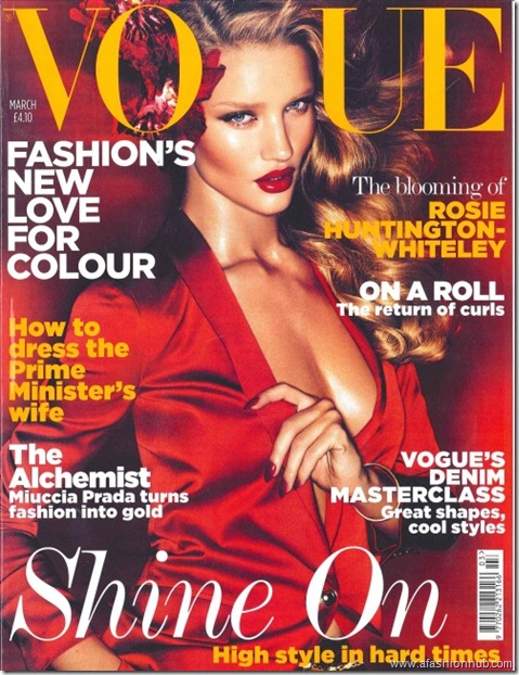 Rosie Huntington-Whiteley mag Covers (1)