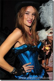 Rosie Huntington== NUR KHAN with SCOTT LIPPS and JESSICA HART host Halloween  Party== Rose Bar Gramercy Park Hotel N.Y.C.== October 31, 2008== © Patrick McMullan== Photo- CHANCE YEH /PatrickMcMullan.com== ==