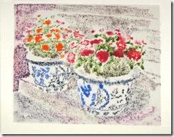 print blue pots