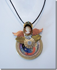 steam punk angel necklace