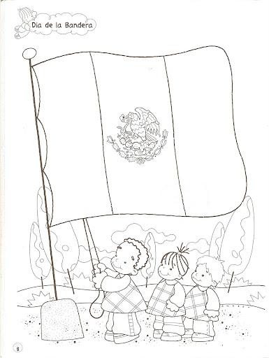 La Bandera Mexicana Para Colorear