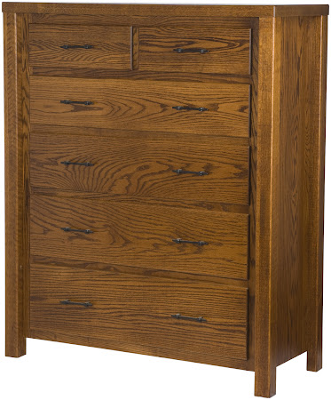 Ashton Vertical Dresser in Autumn Oak