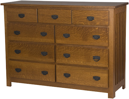 Mission Horizontal Dresser in Mahogany Quarter Sawn Oak