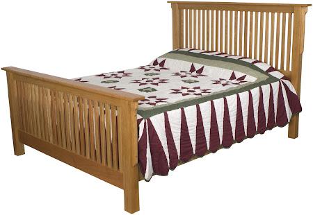 Mission Bed Frame in Rustic Oak