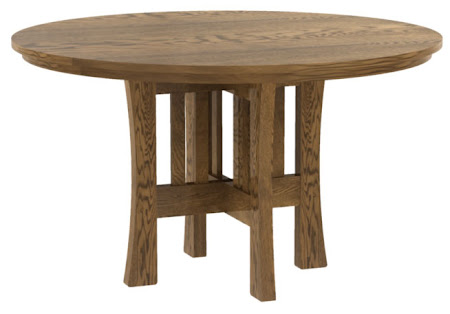 "42"" Diamter Craftsman Style Round Table in Autumn Oak"