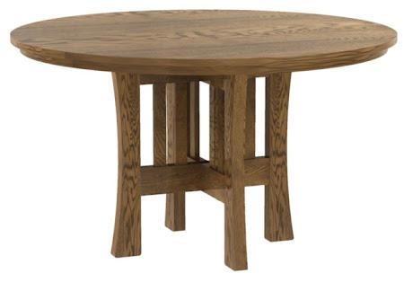 "42"" Diameter Craftsman Style Round Table in Autumn Oak"