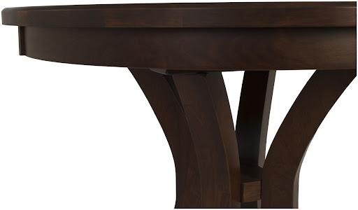 "36"" Diameter Montrose Dining Table in Mahogany Oak"