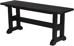 trestle dining bench