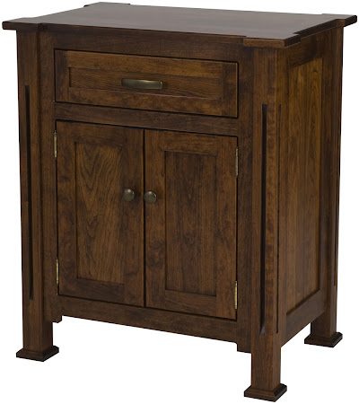 Matching Furniture Piece: Sacramento Nightstand with Doors in Blackened Oak