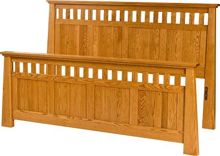 Teton Bed Frame in Cinnamon Quarter Sawn Oak