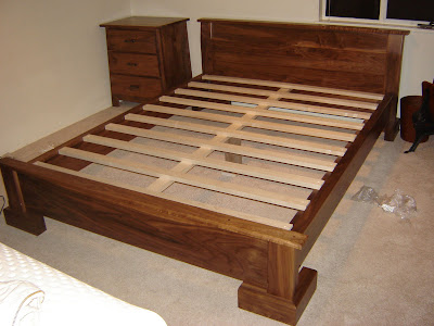 Sumatra Platform Bed in Natural Walnut