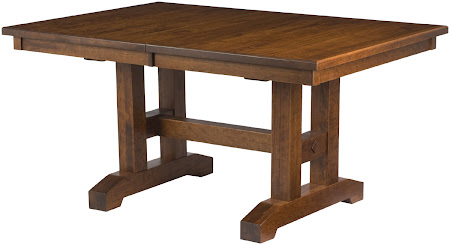 "42"" x 42"" Trestle Table in Antique Cherry"