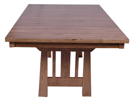 70 x 46 Eastern Table, Hickory Hardwood, Sunset Finish