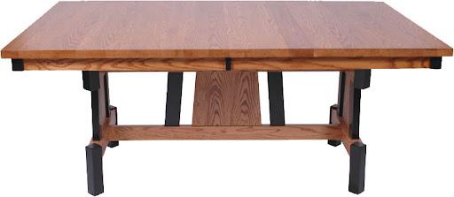"70"" x 42"" Shenzen Table in Medium and Midnight Oak"