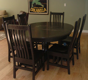 California table in dark finish