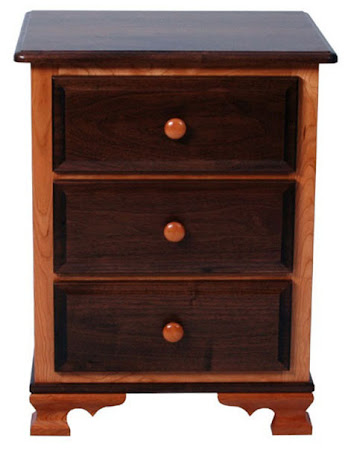Prairie Nightstand with Drawers, in Natural Cherry and Walnut