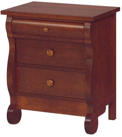 Classic Nightstand with Drawers, Mahogany Quarter Sawn Oak