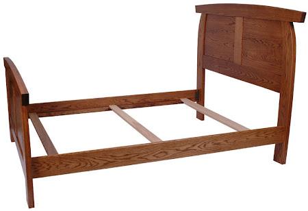 Haiku Bed Frame in Medium Oak