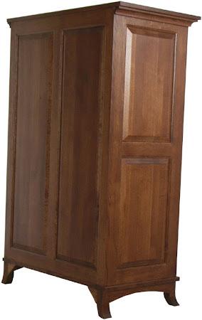 Glasgow Vertical Dresser (Finished Rear Panel) in Mahogany Quarter Sawn Oak