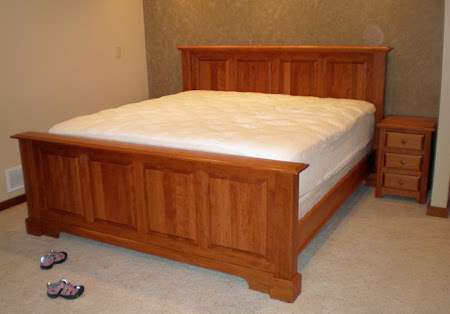 hudson bed frame in red cherry - Cherry Bed Frame