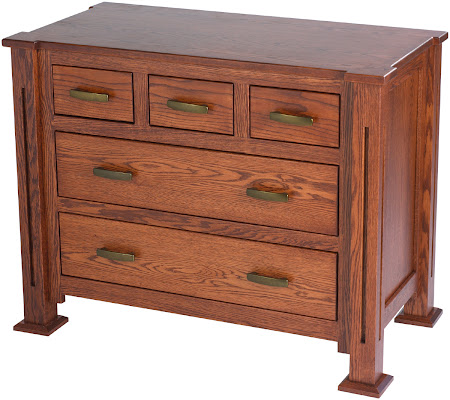 Matching Furniture Piece: Sacramento Dresser in Mahogany Oak