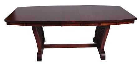 Western Table, Oak Hardwood, Mahogany Finish