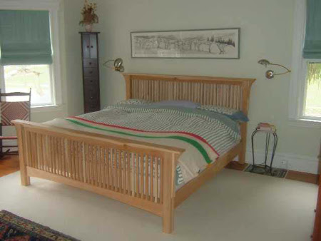 Mission Bed Frame, in Natural Hickory